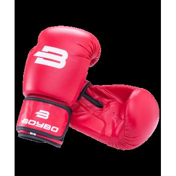 Перчатки боксерские Basic, 8 oz, к/з, красный