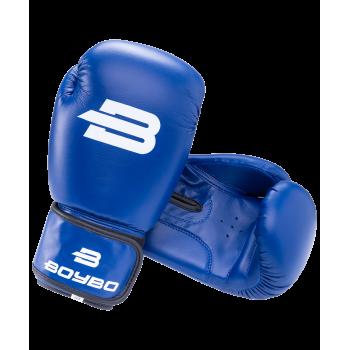 Перчатки боксерские Basic, 10 oz, к/з, синий