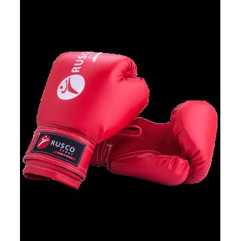 Перчатки боксерские детские, 6oz, к/з, красный