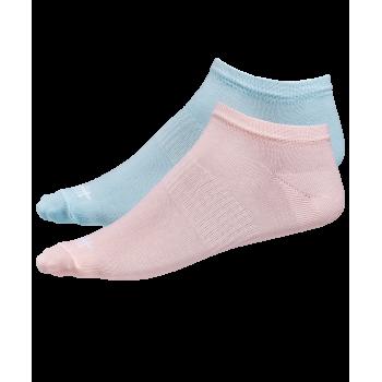 Носки низкие SW-205, персиковый/светло-бирюзовый, 2 пары