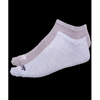 Носки низкие SW-205, голубой меланж/светло-серый меланж, 2 пары