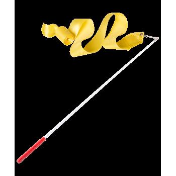 Лента для художественной гимнастики AGR-201 4м, с палочкой 46 см, желтый