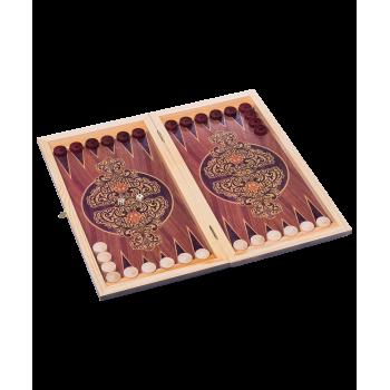 Нарды средние, с деревянными шашками, тонированные