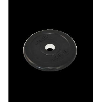 Диск обрезиненный BB-202, d=26 мм, черный, 1,25 кг