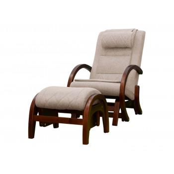Массажное кресло-качалка EGO TWIST EG-2004 CHERRY Бежевый (TONY12) с пуфом