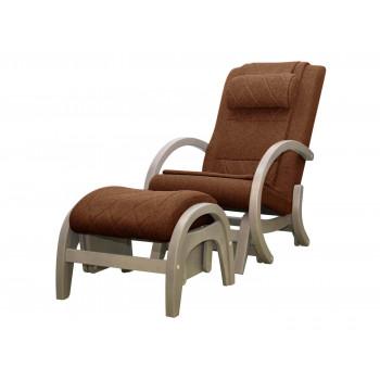 Массажное кресло-качалка EGO TWIST EG-2004 SHIMO Коричневый (TONY8) с пуфом