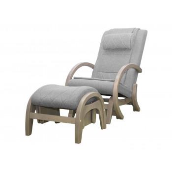 Массажное кресло-качалка EGO TWIST EG-2004 SHIMO Серый (TONY13) с пуфом