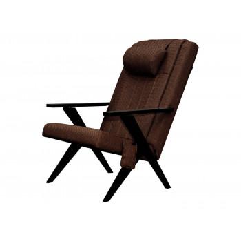 Массажное кресло-шезлонг EGO Bounty EG-3001 КОРИЧНЕВЫЙ (Рогожка)