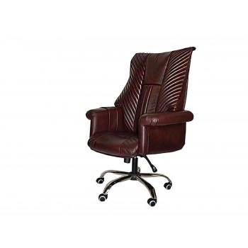 Офисное массажное кресло EGO PRESIDENT EG1005 под заказ (Кожа - Арпатек)