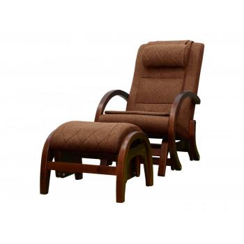 Массажное кресло-качалка EGO TWIST EG-2004 CHERRY Коричневый (TONY8) с пуфом