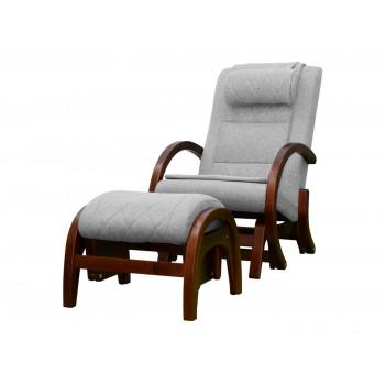 Массажное кресло-качалка EGO TWIST EG-2004 CHERRY Серый (TONY13) с пуфом