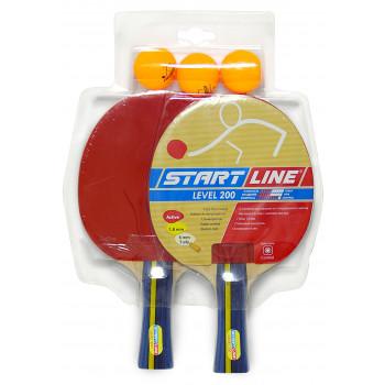 Набор START LINE: 2 Ракетки Level 200, 3 Мяча Club Select, упаковано в блистер