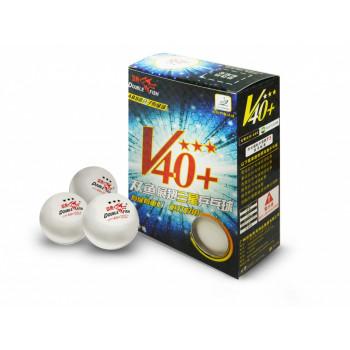 DOUBLE FISH 40+ 3*, 6 мячей в упаковке, белые. Для профессионалов.