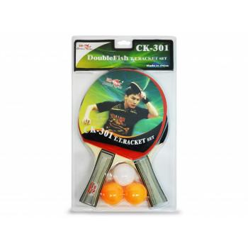Набор DOUBLE FISH: 2 ракетки, 3 мяча