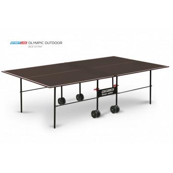 Теннисный стол Olympic Outdoor без сетки - стол с влагостойким покрытием для открытых площадок