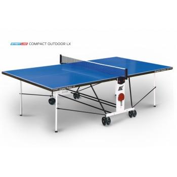 Теннисный стол Compact Outdoor LX blue - любительский всепогодный стол для использования на открытых площадках и в помещениях