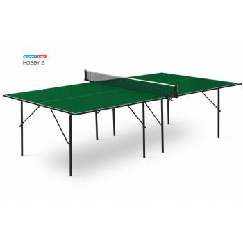 Теннисный стол Hobby 2 green - любительский стол для использования в помещениях