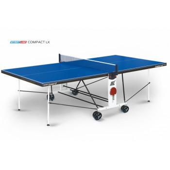 Теннисный стол Compact LX blue - усовершенствованная модель стола для использования в помещениях