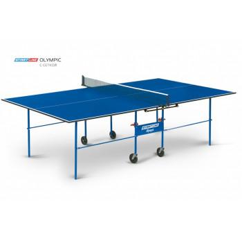 Теннисный стол Olympic blue с сеткой - стол для настольного тенниса для частного использования со встроенной сеткой.