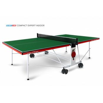 Теннисный стол Compact Expert Indoor green - компактная модель теннисного стола для помещений.  Уникальный механизм трансформации.