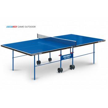 Теннисный стол Game Outdoor blue - любительский всепогодный стол для использования на открытых площадках и в помещениях