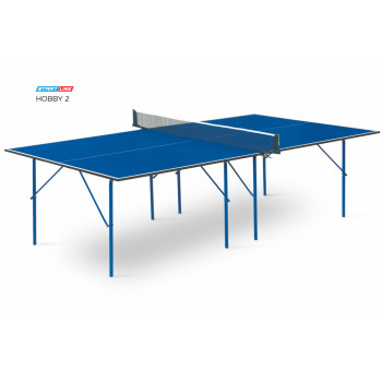 Теннисный стол Hobby 2 blue - любительский стол для использования в помещениях