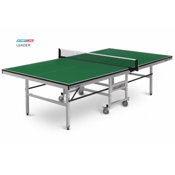 Теннисный стол Leader green - клубный стол для настольного тенниса. Подходит для игры в помещении, идеален для тренировок и соревнований