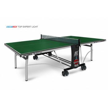 Теннисный стол Top Expert Light green-  облегченная модель  топового теннисного стола для помещений. Уникальный механизм складывания