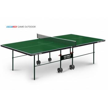 Теннисный стол Game Outdoor green - любительский всепогодный стол для использования на открытых площадках и в помещениях