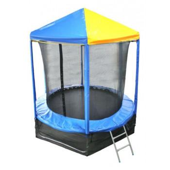 Батут Optifit Like Blue 6ft с сине-желтой крышей