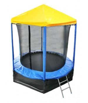 Батут Optifit Like Blue 6ft с желтой крышей