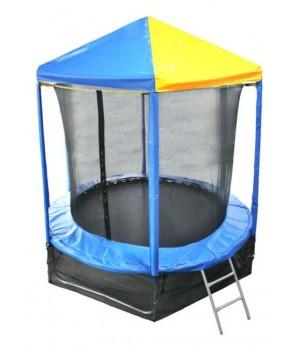 Батут Optifit Like Blue 8ft с сине-желтой крышей