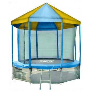 Батут Optifit Like Blue 14ft с сине-желтой крышей