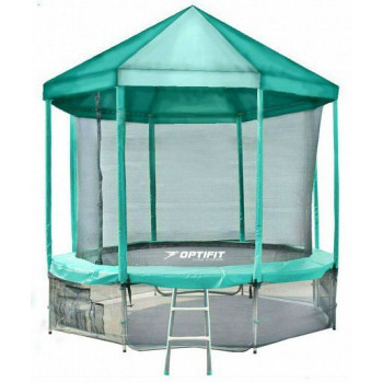 Батут Optifit Like Green 16ft с зеленой крышей