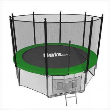 Батут Unix 6 ft с сеткой и лестницей Green
