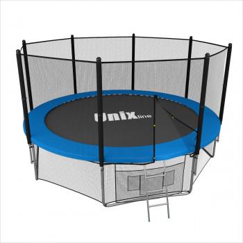Батут Unix 10 ft с сеткой и лестницей Blue
