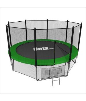 Батут Unix 10 ft с сеткой и лестницей Green