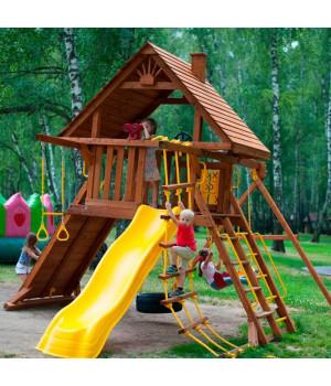 Игровая площадка New Sunrise Зарница с деревянной крышей