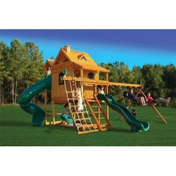 Игровая площадка с двумя спусками PlayNation Горный дом Делюкс