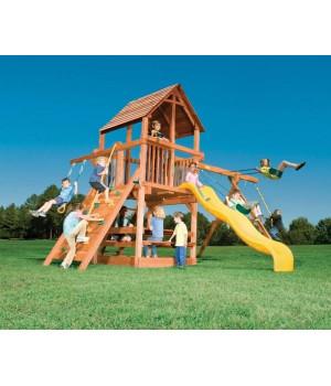 Игровая площадка Woodplay Playhouse с деревянной крышей