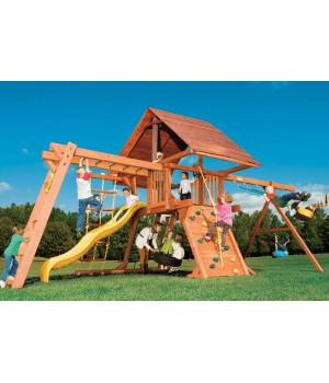 Игровая площадка Woodplay Castle Combo III с деревянной крышей