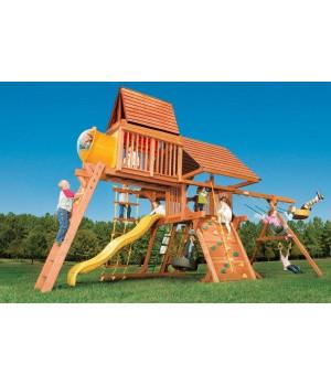Игровая площадка Woodplay Castle Combo IV с деревянной крышей