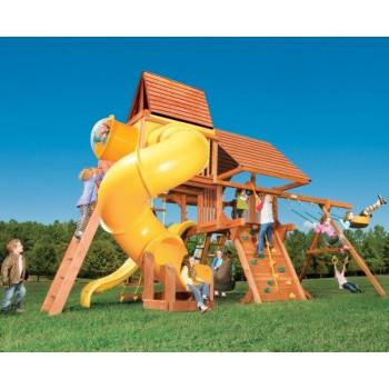Игровая площадка Woodplay Castle Combo V с деревянной крышей