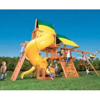 Игровая площадка Woodplay Castle Combo V с тентованной крышей