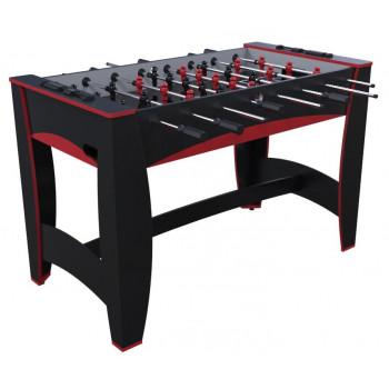 """Игровой стол - футбол """"Hit"""" (122x63.5x78.7 см, черно-красный)"""