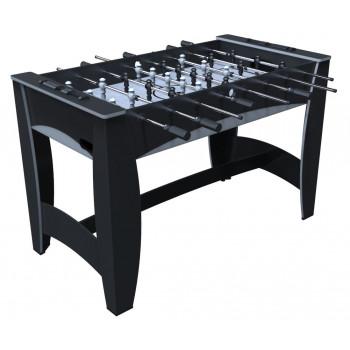 """Игровой стол - футбол """"Hit"""" (122x63.5x78.7 см, черно-серебристый)"""